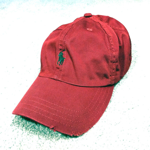 6991bef9ca6 Polo Ralph Lauren Red Hat Distressed Bill Vintage.  M 5b415e20194dad92ff311d04